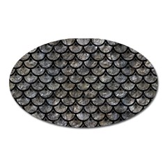 Scales3 Black Marble & Gray Stone (r) Oval Magnet by trendistuff