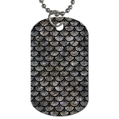 Scales3 Black Marble & Gray Stone (r) Dog Tag (one Side) by trendistuff
