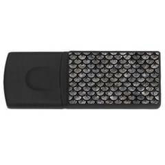 Scales3 Black Marble & Gray Stone (r) Rectangular Usb Flash Drive by trendistuff