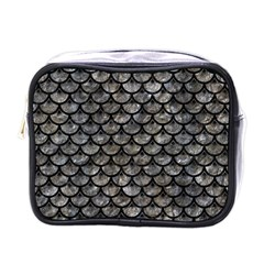 Scales3 Black Marble & Gray Stone (r) Mini Toiletries Bags by trendistuff