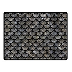 Scales3 Black Marble & Gray Stone (r) Fleece Blanket (small) by trendistuff