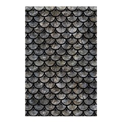 Scales3 Black Marble & Gray Stone (r) Shower Curtain 48  X 72  (small)  by trendistuff