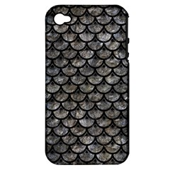Scales3 Black Marble & Gray Stone (r) Apple Iphone 4/4s Hardshell Case (pc+silicone) by trendistuff