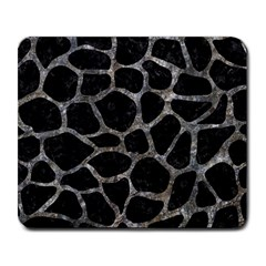 Skin1 Black Marble & Gray Stone (r) Large Mousepads by trendistuff