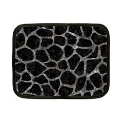 Skin1 Black Marble & Gray Stone (r) Netbook Case (small)  by trendistuff