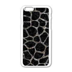 Skin1 Black Marble & Gray Stone (r) Apple Iphone 6/6s White Enamel Case by trendistuff