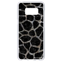 Skin1 Black Marble & Gray Stone (r) Samsung Galaxy S8 White Seamless Case by trendistuff