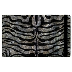 Skin2 Black Marble & Gray Stone (r) Apple Ipad 3/4 Flip Case by trendistuff