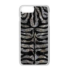 Skin2 Black Marble & Gray Stone (r) Apple Iphone 7 Plus White Seamless Case by trendistuff