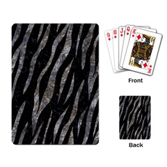 Skin3 Black Marble & Gray Stone Playing Card