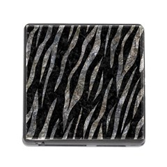 Skin3 Black Marble & Gray Stone Memory Card Reader (square) by trendistuff