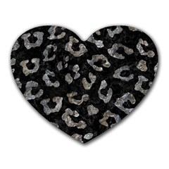 Skin5 Black Marble & Gray Stone (r) Heart Mousepads