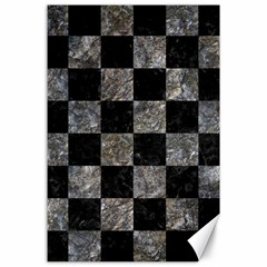 Square1 Black Marble & Gray Stone Canvas 24  X 36  by trendistuff