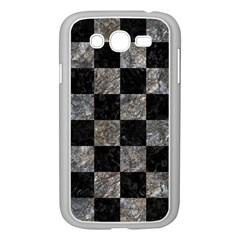 Square1 Black Marble & Gray Stone Samsung Galaxy Grand Duos I9082 Case (white) by trendistuff