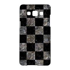 Square1 Black Marble & Gray Stone Samsung Galaxy A5 Hardshell Case  by trendistuff
