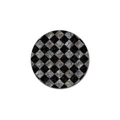 Square2 Black Marble & Gray Stone Golf Ball Marker (10 Pack)