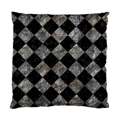 Square2 Black Marble & Gray Stone Standard Cushion Case (one Side) by trendistuff