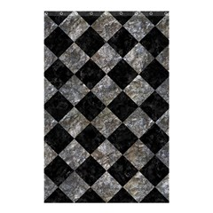 Square2 Black Marble & Gray Stone Shower Curtain 48  X 72  (small)  by trendistuff