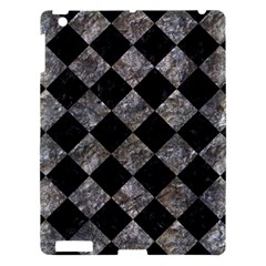 Square2 Black Marble & Gray Stone Apple Ipad 3/4 Hardshell Case by trendistuff