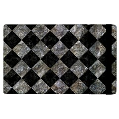 Square2 Black Marble & Gray Stone Apple Ipad 3/4 Flip Case by trendistuff