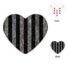 Stripes1 Black Marble & Gray Stone Playing Cards (heart)  by trendistuff