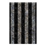 STRIPES1 BLACK MARBLE & GRAY STONE Shower Curtain 48  x 72  (Small)  42.18 x64.8 Curtain