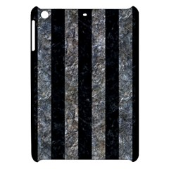 Stripes1 Black Marble & Gray Stone Apple Ipad Mini Hardshell Case by trendistuff
