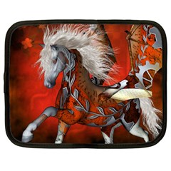 Awesome Steampunk Horse With Wings Netbook Case (large) by FantasyWorld7