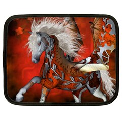 Awesome Steampunk Horse With Wings Netbook Case (xxl)  by FantasyWorld7