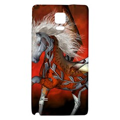 Awesome Steampunk Horse With Wings Galaxy Note 4 Back Case by FantasyWorld7