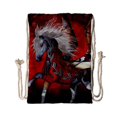 Awesome Steampunk Horse With Wings Drawstring Bag (small) by FantasyWorld7