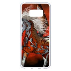 Awesome Steampunk Horse With Wings Samsung Galaxy S8 Plus White Seamless Case by FantasyWorld7