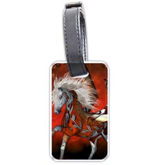 Awesome Steampunk Horse With Wings Luggage Tags (one Side)  by FantasyWorld7