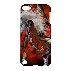 Awesome Steampunk Horse With Wings Apple Ipod Touch 5 Hardshell Case by FantasyWorld7