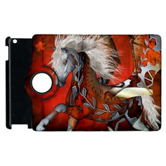 Awesome Steampunk Horse With Wings Apple Ipad 3/4 Flip 360 Case by FantasyWorld7