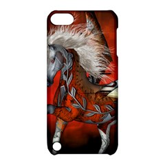 Awesome Steampunk Horse With Wings Apple Ipod Touch 5 Hardshell Case With Stand by FantasyWorld7