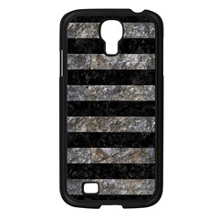 Stripes2 Black Marble & Gray Stone Samsung Galaxy S4 I9500/ I9505 Case (black) by trendistuff