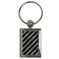 Stripes3 Black Marble & Gray Stone Key Chains (rectangle)  by trendistuff