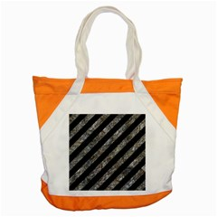 Stripes3 Black Marble & Gray Stone Accent Tote Bag by trendistuff