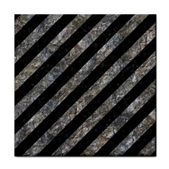 Stripes3 Black Marble & Gray Stone Face Towel