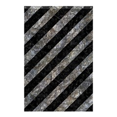 Stripes3 Black Marble & Gray Stone Shower Curtain 48  X 72  (small)  by trendistuff
