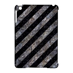 Stripes3 Black Marble & Gray Stone Apple Ipad Mini Hardshell Case (compatible With Smart Cover) by trendistuff