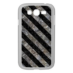 Stripes3 Black Marble & Gray Stone (r) Samsung Galaxy Grand Duos I9082 Case (white) by trendistuff