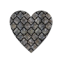 Tile1 Black Marble & Gray Stone (r) Heart Magnet by trendistuff