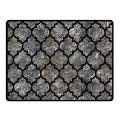 Tile1 Black Marble & Gray Stone (r) Double Sided Fleece Blanket (small)  by trendistuff
