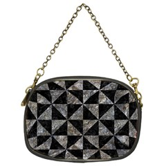 Triangle1 Black Marble & Gray Stone Chain Purses (one Side)  by trendistuff