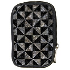 Triangle1 Black Marble & Gray Stone Compact Camera Cases by trendistuff