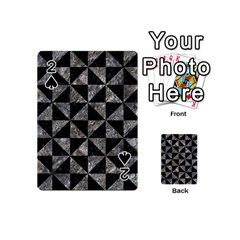 Triangle1 Black Marble & Gray Stone Playing Cards 54 (mini)  by trendistuff