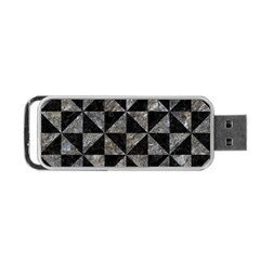 Triangle1 Black Marble & Gray Stone Portable Usb Flash (one Side) by trendistuff