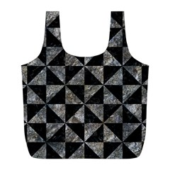 Triangle1 Black Marble & Gray Stone Full Print Recycle Bags (l)  by trendistuff